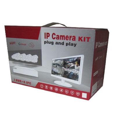 Kit+4+c%E1maras+IP+bullet+Plug+%26+Play+1%2C3+megapixel+ONVIF+POE